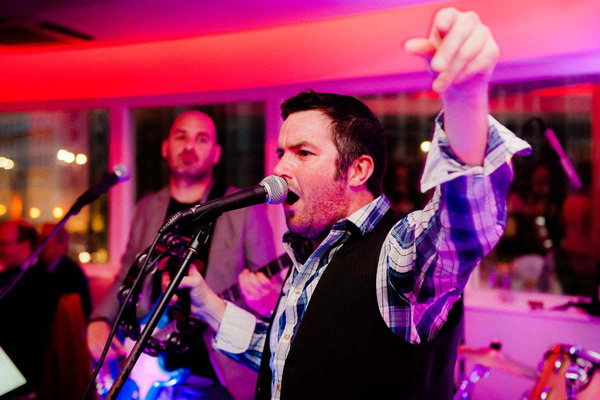 Live Wedding Band Slinky | Rock Pop and Indie Wedding Band | Slinky performing at a wedding reception 14.