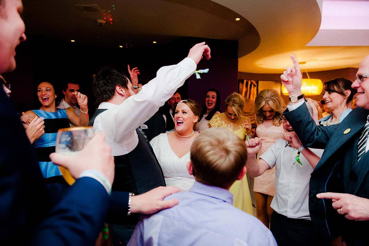Live Wedding Band Slinky | Rock Pop and Indie Wedding Band | The newlyweds dancing at their wedding reception.