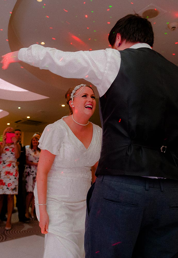 North West Wedding Band Slinky | Cheshire | Manchester | Wales | Lucy and Craig having their first dance.