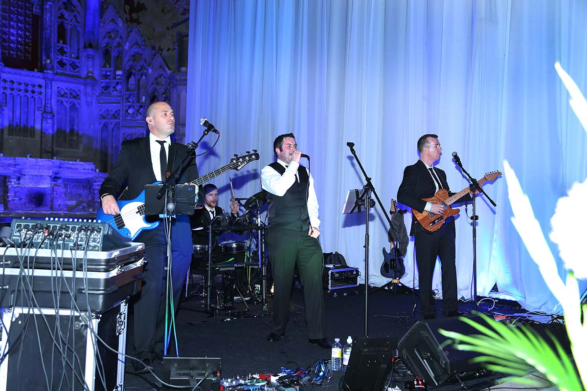 Live Wedding Band Slinky | Rock Pop and Indie Wedding Band | Performing at the Monastery for a Summerball 3.