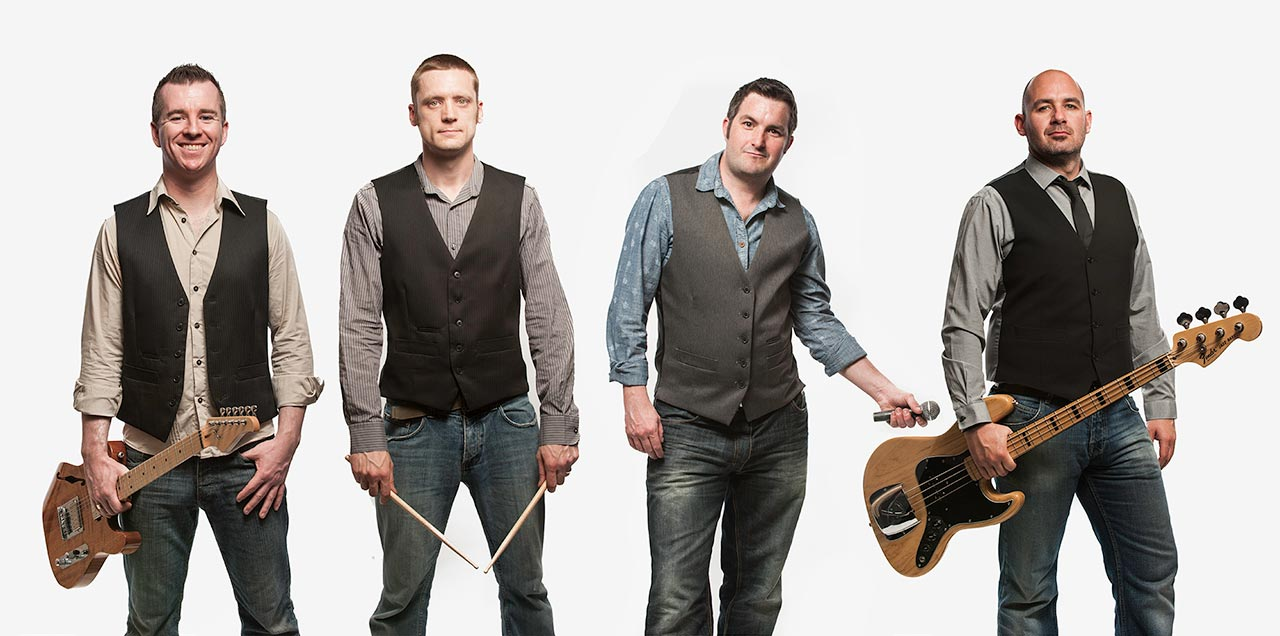 Live Wedding Band Slinky | Rock Pop and Indie Wedding Band | Band shot in the studio 2.